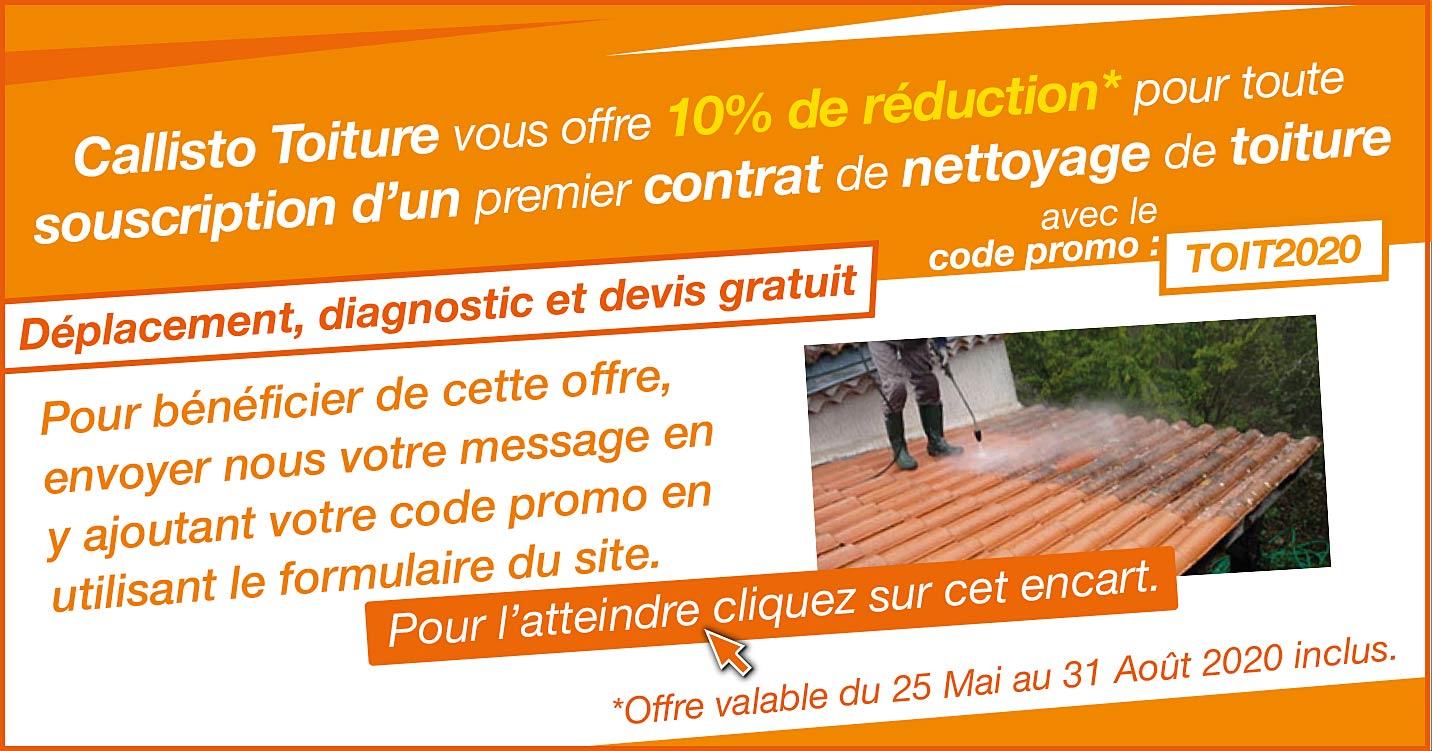 promo pour le demoussage et le nettoyage des toitures